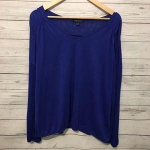 Lane Bryant Blue Long Sleeve Scoop Shirt 22/24